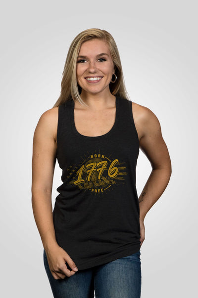 Women's Racerback Tank - We are born free