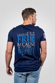 Men's T-Shirt - Because Of The Brave