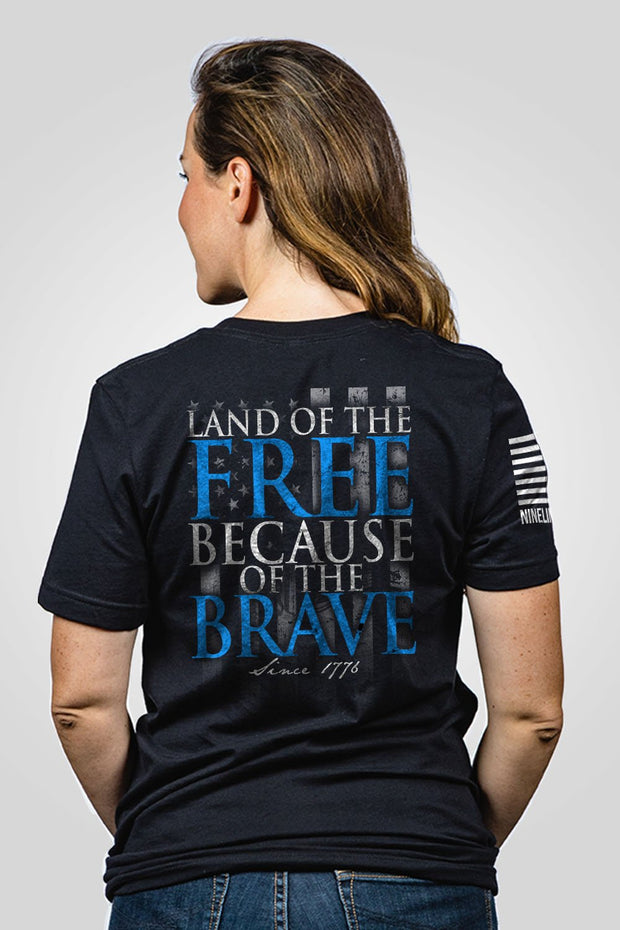 Boyfriend Fit T-Shirt - Because Of The Brave