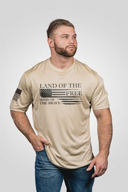 Men's Moisture Wicking T-Shirt - Home of the Brave