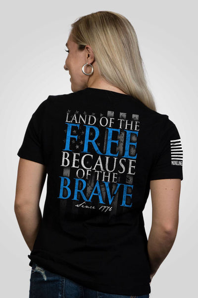 Women's Relaxed Fit T-Shirt - Because Of The Brave