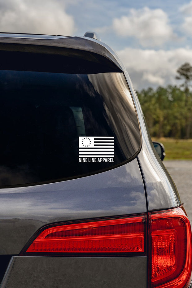 Betsy Ross Nine Line Decal