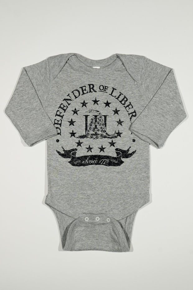 Long Sleeve Onesie - Defender Of Liberty