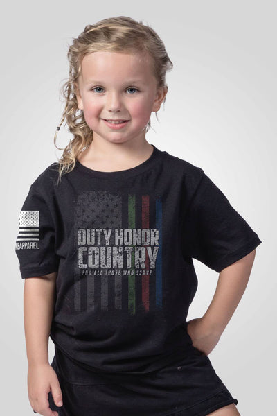 Youth T-Shirt - Duty, Honor, Country, Flag