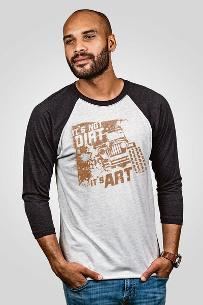Unisex Baseball Tees - Art Not Dirt