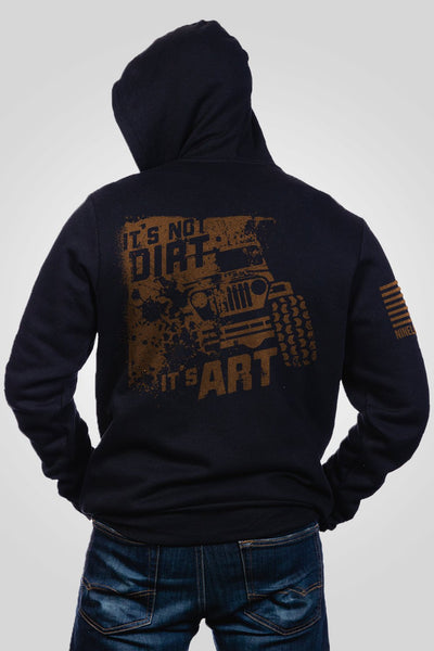 Men's Full-Zip Hoodie - Art Not Dirt
