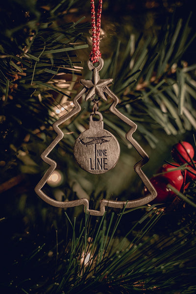 USA Made Nine Line Christmas Tree Ornament