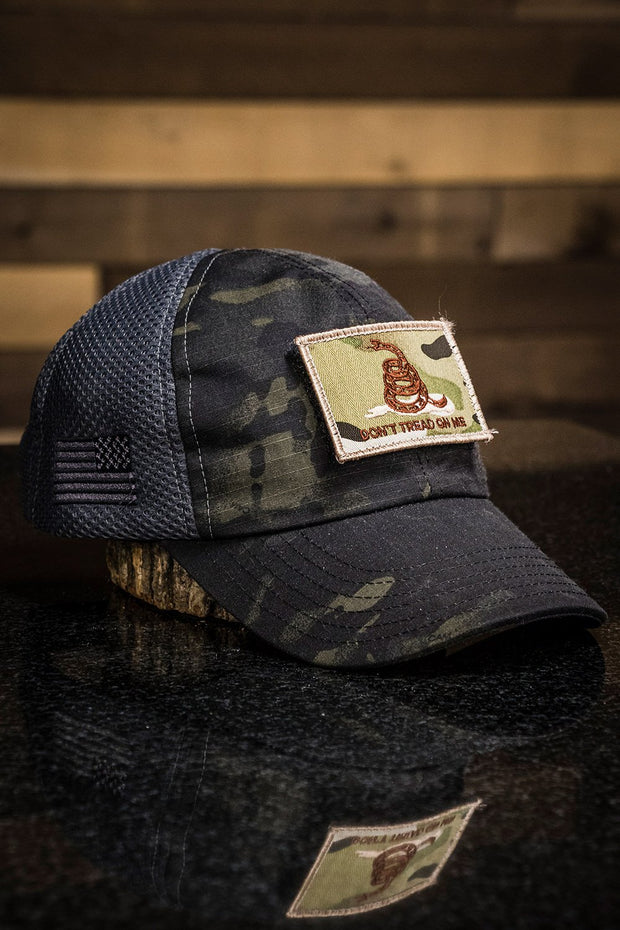 Dark American Made Mesh Back Hat with Patch