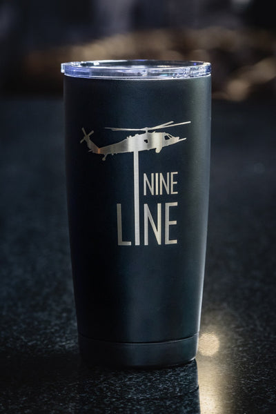 20oz Vacuum Insulated Laser Engraved Tumbler - Drop Line