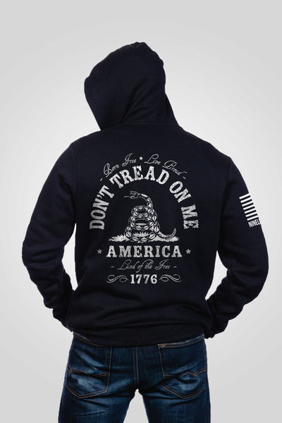 Men's Full-Zip Hoodie - Don't Tread on Me