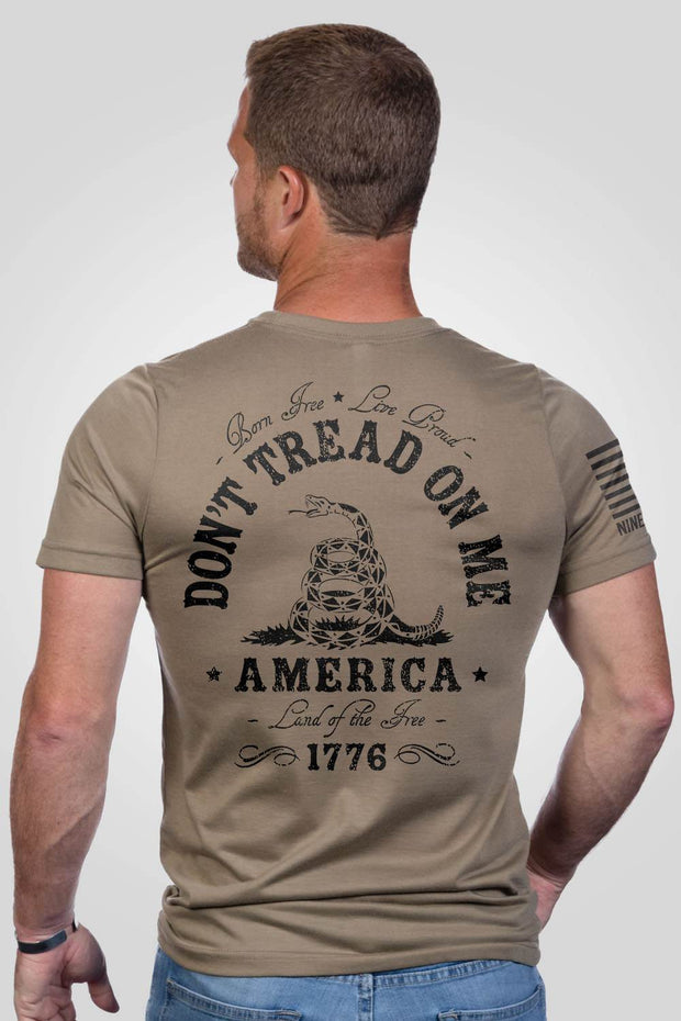 Coyote don't tread on me men's performance shirt, rear view