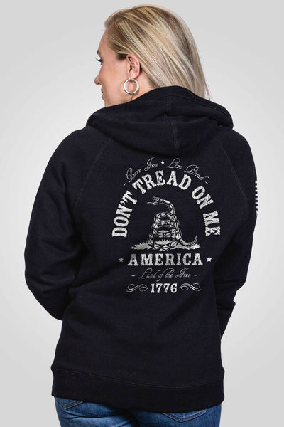 Women's V-Neck Hoodie - Don't Tread on Me