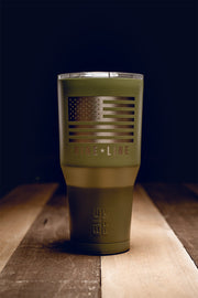 Laser Etched BF 30 oz Tumbler - Nine Line Flag
