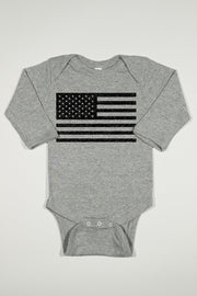 Long Sleeve Onesie - American Flag