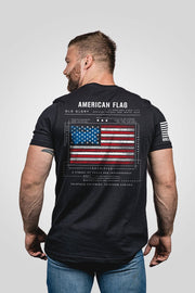 Men's T-Shirt - American Flag Schematic