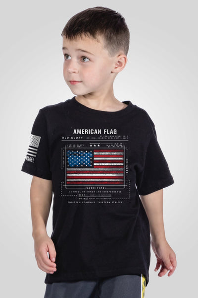 Youth T-Shirt - American Flag Schematic