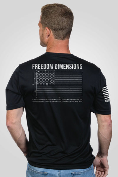 Men's Moisture Wicking T-Shirt - Freedom Dimensions