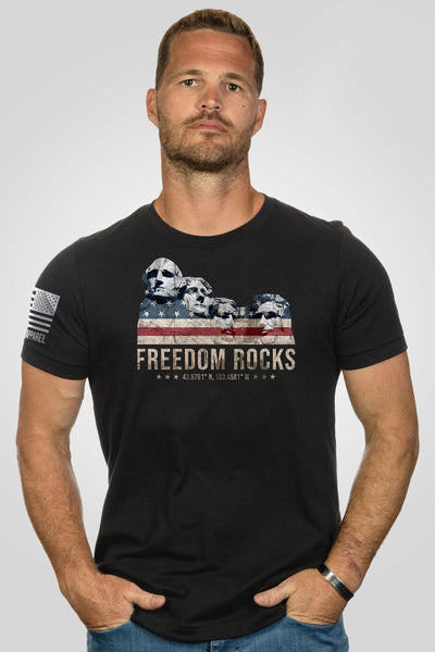 Men's T-Shirt - Freedom Rocks [Patriots Club Exclusive]