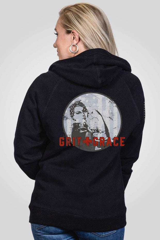 Women's V-Neck Hoodie - Grit and Grace
