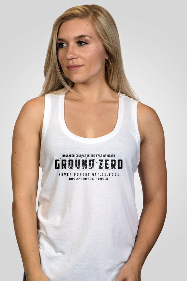 Women's Racerback Tank - Ground Zero