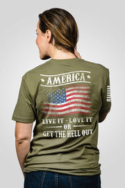 Boyfriend Fit T-Shirt - Get The Hell Out