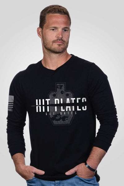 Men's Long Sleeve - PRS- Hit Plates Get Dates