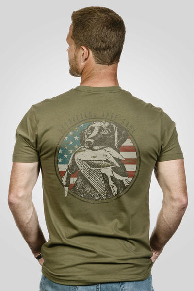 Men's T-Shirt - Halo Waterfowl Man's Best Friend