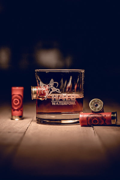 American Made Whiskey Glass - Halo Waterfowl