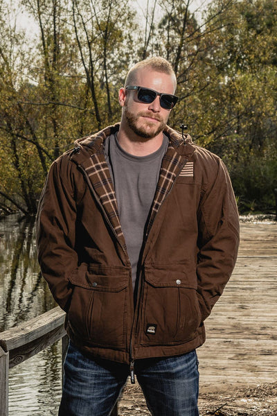 Hooded Twill Concealed Carry Jacket