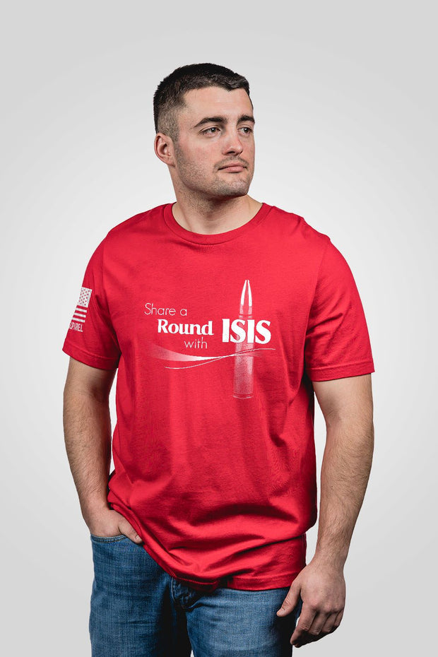 Mens T-Shirt - Share A Round with ISIS