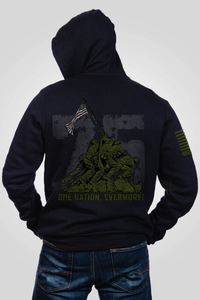 Men's Full-Zip Hoodie - Iwo Jima 75th