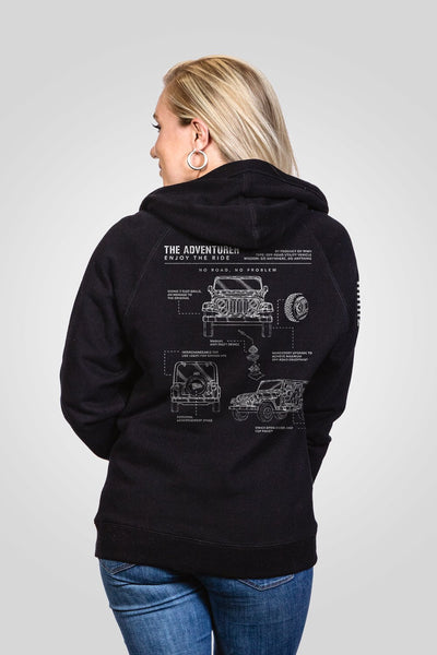 Women's V-Neck Hoodie - The Adventurer [LTD]