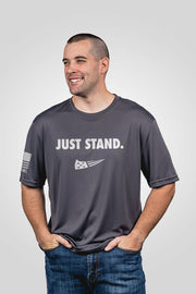 Men's Moisture Wicking T-Shirt - Just Stand