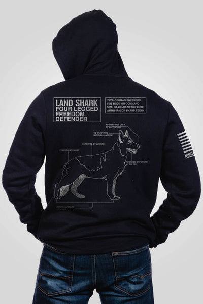 Men's Full-Zip Hoodie - Land Shark [LTD]