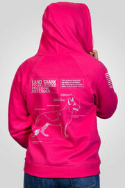 Women's V-Neck Hoodie - Land Shark [LTD]