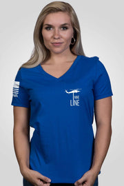 Women's Relaxed Fit V-Neck Shirt - Land Shark [LTD]