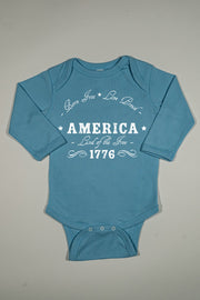 Long Sleeve Onesie - Land Of The Free