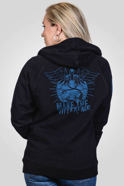 Women's V-Neck Hoodie - Make The Difference