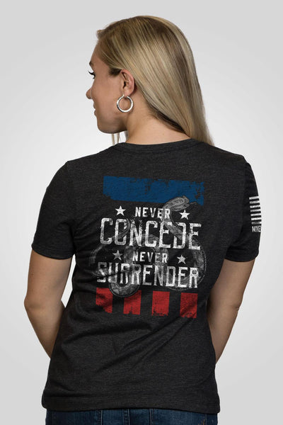 Women's Relaxed Fit T-Shirt – Never Concede [Patriots Club Exclusive]
