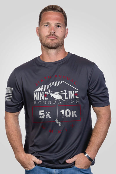 Unisex Moisture Wicking T-Shirt - Nine Line Foundation Virtual Run For The Wounded 2019