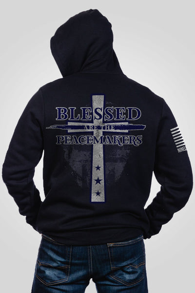 Men's Full-Zip Hoodie - Blessed Are The Peacemakers