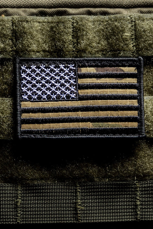 Black Camo American Flag Patch