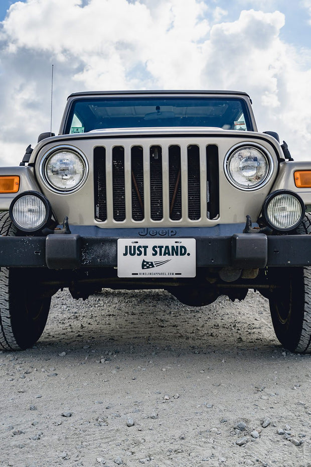 License Plate - Just Stand