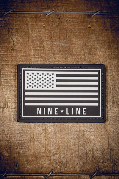Nine Line Flag PVC Patch