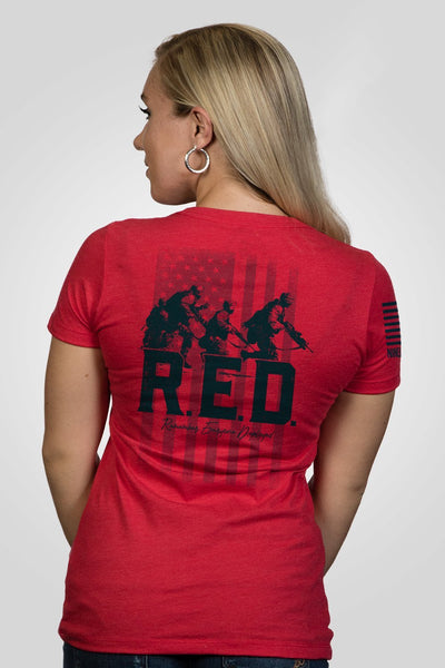 Women's Relaxed Fit T-Shirt - Remember Everyone Deployed [Patriots Club Exclusive]