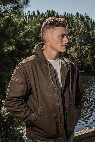 Twill Hooded Heritage Jacket