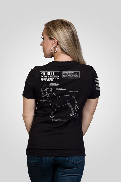 Women's Relaxed Fit V-Neck Shirt - Pit Bull