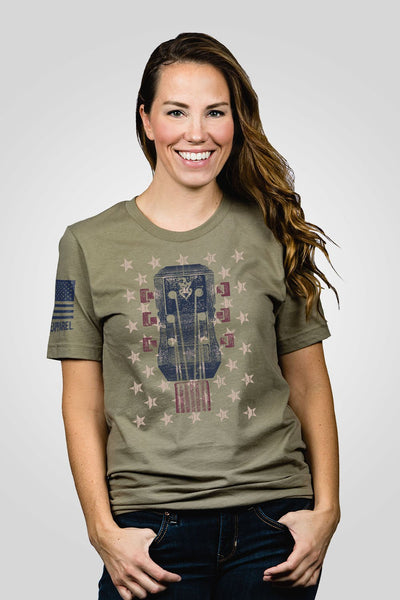 Boyfriend Fit T-Shirt - Ryan Weaver Bars and Stars