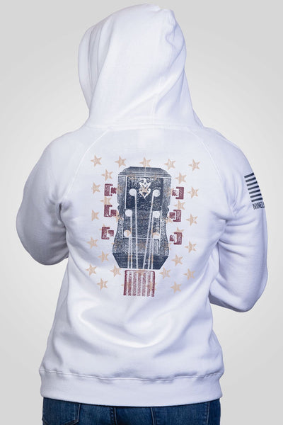 Women's V-Neck Hoodie - Ryan Weaver Bars and Stars