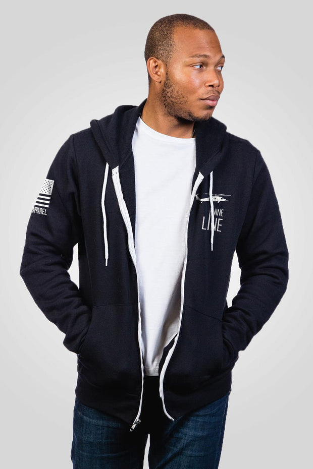 Men's Full-Zip Hoodie - Sacred Warrior